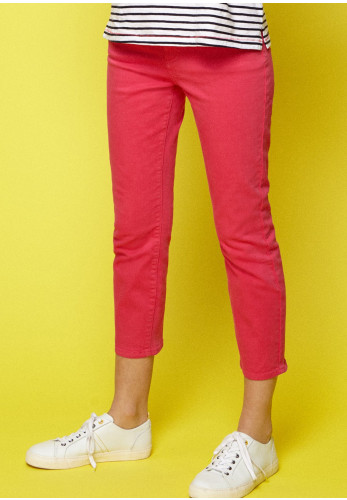 White Stuff Ash Straight Cropped Jeans, Spicy Pink