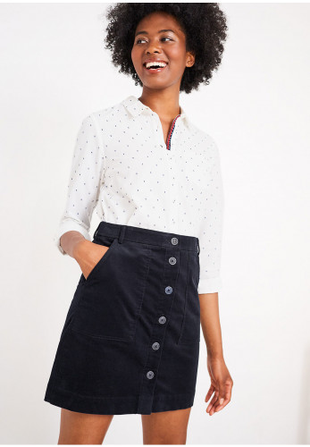 White Stuff Canterbury Velvet Mini Skirt, Navy
