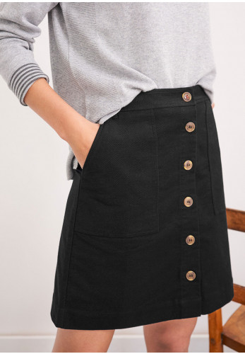 White Stuff Canterbury Mini Skirt, Black