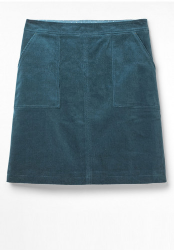 White Stuff Clocktower Cord Mini Skirt, Sea Blue