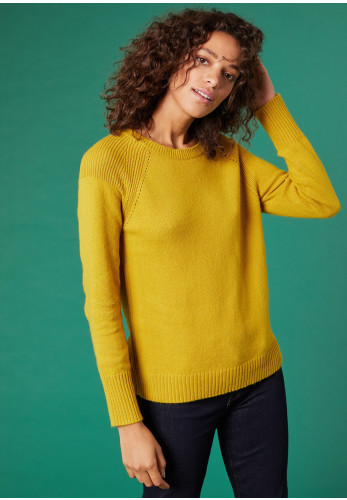 White Stuff Hearth Wool Blend Jumper, Mustard