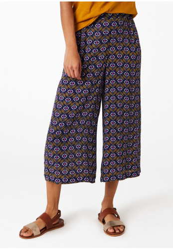 White Stuff Musical Printed Culotte Trousers, Multi