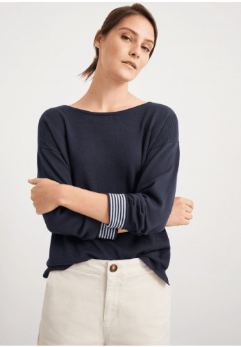 White Stuff Olivia Relaxed Fit Jumper, Navy