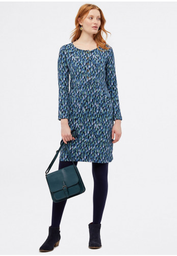 White Stuff Pitter Patter Jersey Dress, Blue