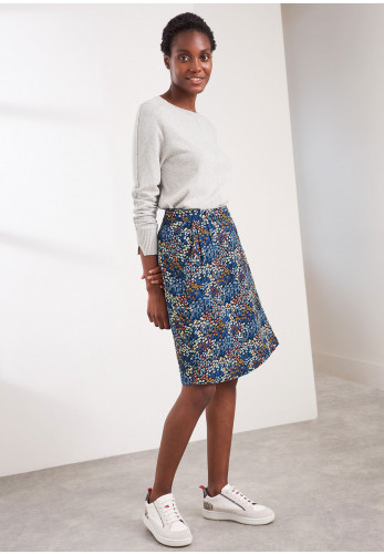 White Stuff Rumi Reversible Wrap Skirt, Blue