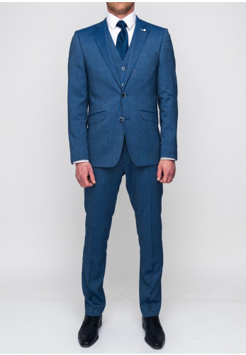White Label Tapered Fit Three Piece Suit, Blue