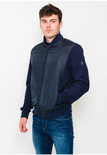 White Label Zip Up Casual Jacket, Navy