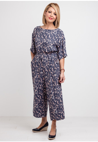White Stuff Cassie Printed Jumpsuit, Grey