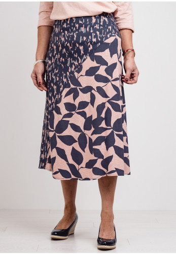 White Stuff Hidden Tiger Skirt, Grey & Pink