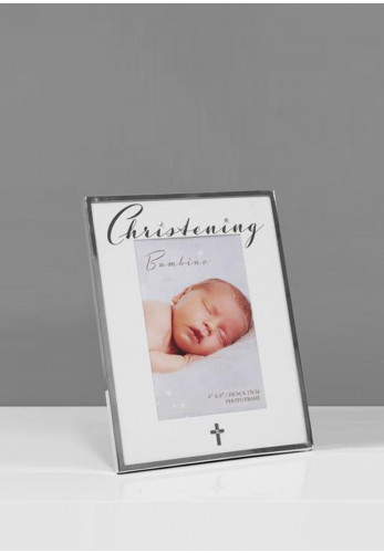 Bambino Silver Plated Christening Photo Frame, 4 x 6