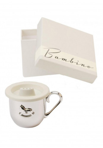 Bambino by Juliana Baby's Cup Ornament, Silver Plated