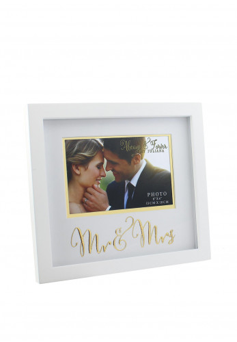 "Always and Forever Mr and Mrs Horizontal Photo Frame, 6"" x 4"""