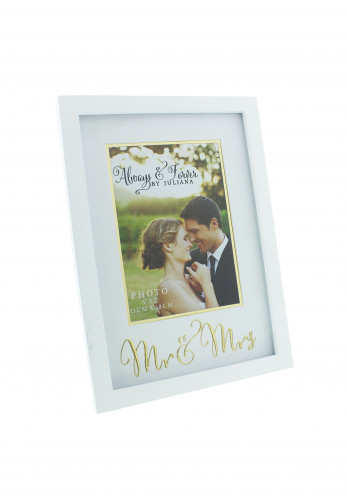 "Always and Forever Mr and Mrs Vertical Photo Frame, 5"" x 7"""