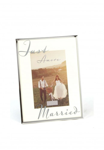 Amore Just Married Photo Frame, Cream