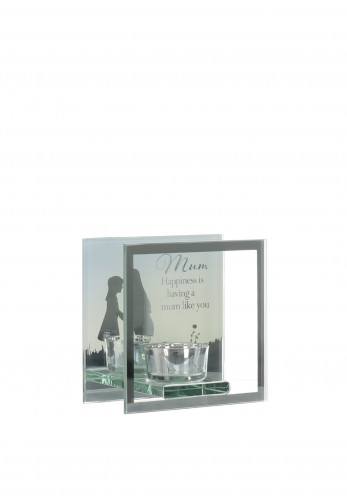 Widdop & Bingham Mum Glass Mirror Tealight Holder