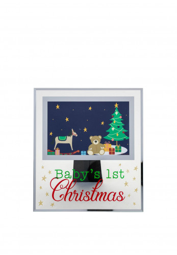 Widdop & Co Babys First Christmas Photo Frame