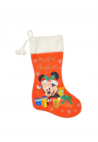Widdop & Co Disney Mickey Mouse Stocking, My First Christmas