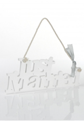 Amore By Juliana Hanging Plaque, Just Married