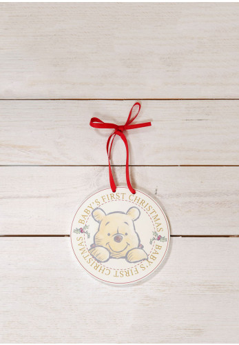 Widdop Winnie the Pooh My First Christmas Hanging Decoration