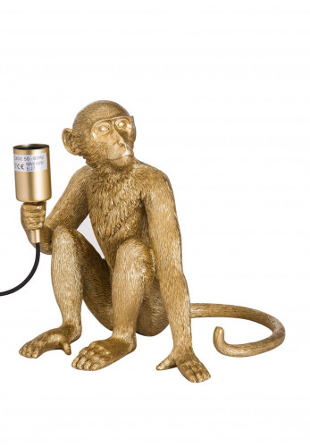 WJ Sampson George the Monkey Gold Table Lamp