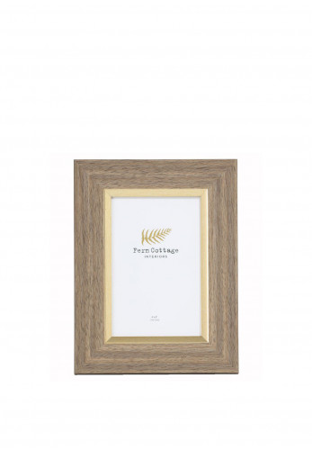 """Fern Cottage 4 X 6"""" Wood Frame with Gold Inlay Photo Frame"""