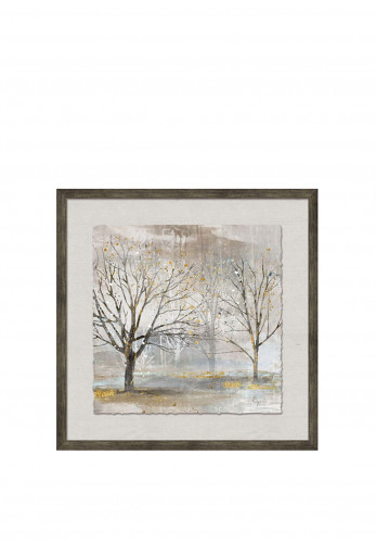 WJ Sampson Framed Trees with Gold Leaf, Style 1