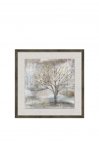 WJ Sampson Framed Trees with Gold Leaf, Style 2