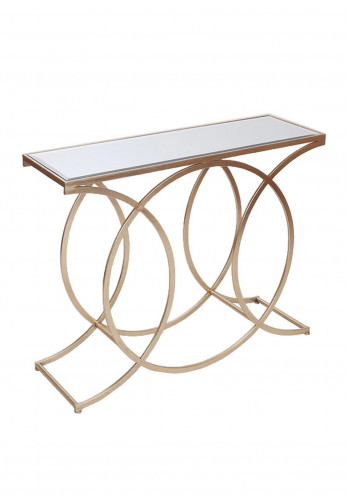 WJ Sampson Gold Circle Console Table