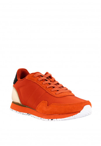 Woden Nora III Suede Trainers, Orange