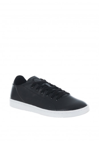 Woden Jane Leather Trainers, Black