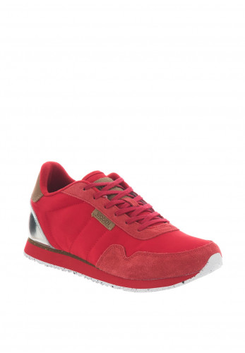 Woden Nora II Suede Trainers, Red