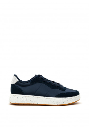 Woden May Suede Mix Trainers, Navy