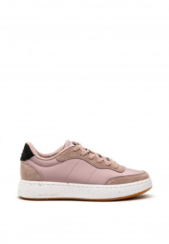 Woden May Suede Mix Trainers, Bark Pink