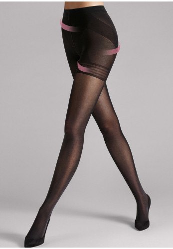 Wolford Power Shape 50 Control Top Opaque Tights, Black