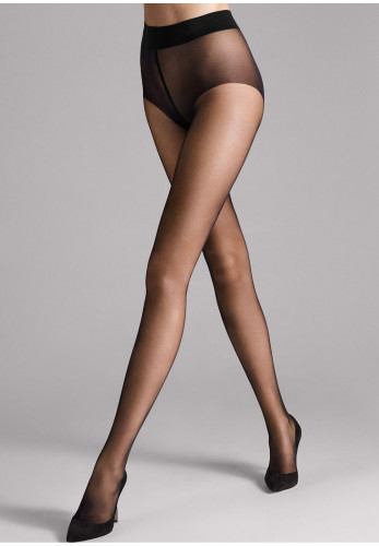 Wolford Pure 10 Sheer Tights, Black