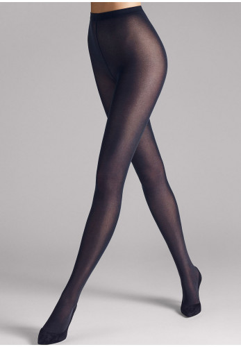 Wolford Velvet De Luxe 50 Opaque Tights, Dark Navy