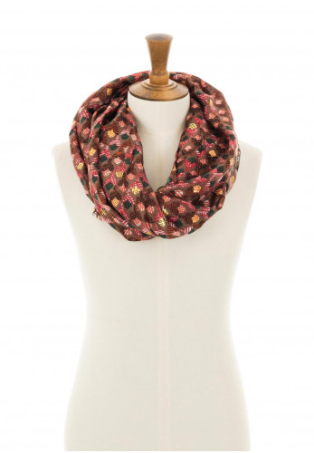 Zen Collection Floral Print Scarf, Brown Multi