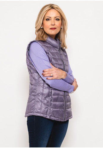 Leon Collection Quilted Gilet, Purple