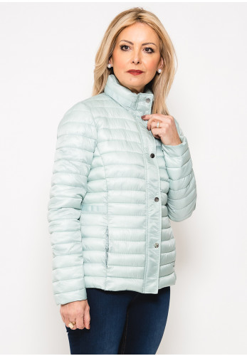 Leon Collection Ribbon Trim Quilted Jacket, Mint Green
