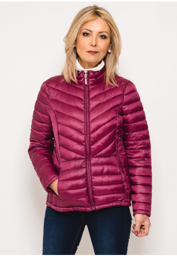 Zenith Collection Quilted Jacket, Deep Pink