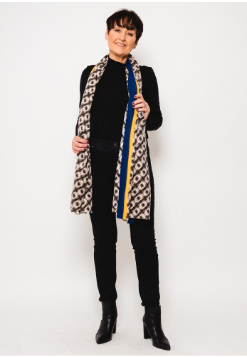 Leon Collection Chain Print Scarf, Blue