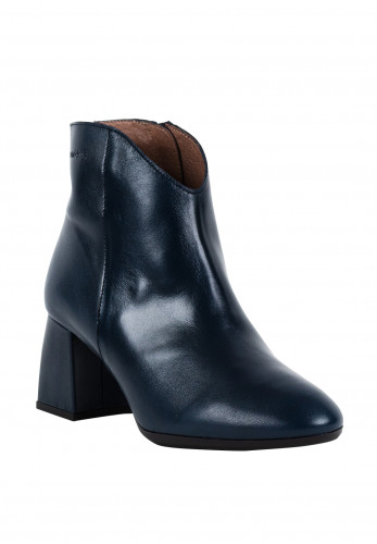 Wonders Leather Pointed Toe Ankle Boots, Dark Blue