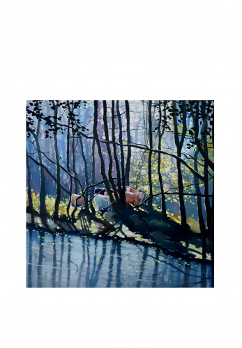 Sharon McDaid Woodland Grazers Framed Art