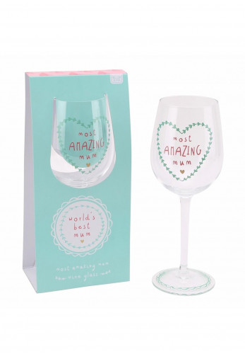 Worlds Best Mum Wine Glass