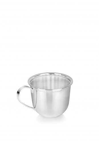 Newbridge Sliverplate Beaded Christening Cup, Silver