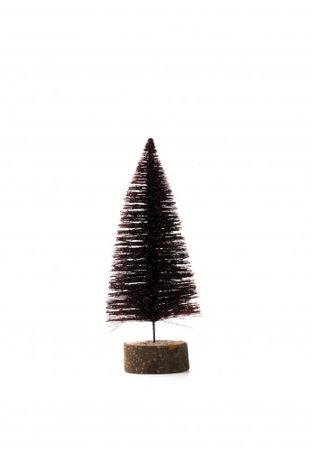 Heaven Sends Glitter Bristle Christmas Tree, Wine