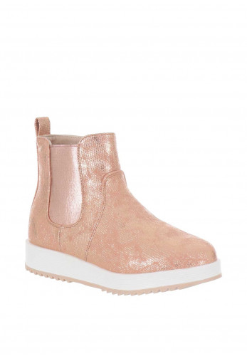 Xti Girls Metallic Chelsea Boots, Rose Gold