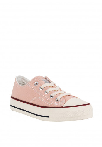 Xti Girls Lace Up Canvas Trainers, Pink