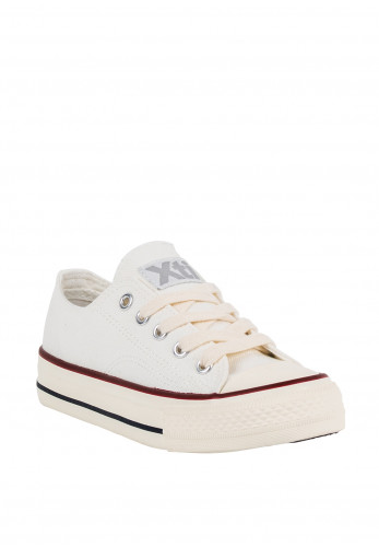 Xti Kids Lace Up Canvas Trainers, White