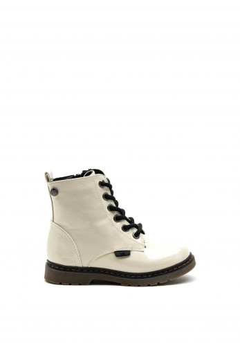 Xti Girls Patent Lace Up Boots, Off White